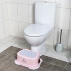 Подставка детская антискользящая «Кролики», цвет розовый