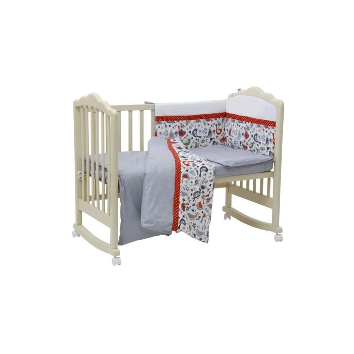 Борт в кроватку «Кантри», размер 60х120 см, цвет красный