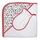 Набор для купания «Кантри», пелёнка 75х75 см, рукавичка, красный