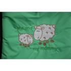 Конверт меховой «Я и моя мама», размер 45х95 см, цвет зелёный - Фото 2