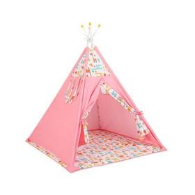 Вигвам «Жираф», размер 130х130 см, высота 147 см, розовый Ош