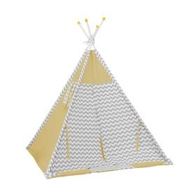 Вигвам «Зигзаг», размер 130х130 см, высота 147 см, жёлтый Ош