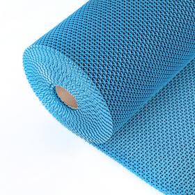 Покрытие ковровое против скольжения «Зиг-Заг Твист», 0,9×10 м, h=4,5 мм, цвет синий