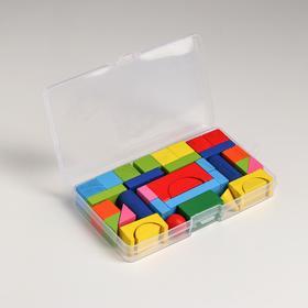 Конструктор «Городок», в пластиковом кейсе, кубик: 1.9 × 1.9 см