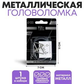 Головоломка металлическая «Раздели на части», МИКС