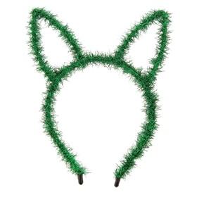 Карнавальный ободок «Зайка», цвет зелёный Ош