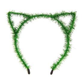 Карнавальный ободок «Киска», цвет зелёный Ош