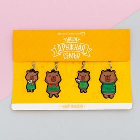 Набор брелоков «Медведи», 4 шт., 18 х 17,5 см Ош