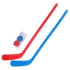 Набор «Юный хоккеист», 2 клюшки и 2 шайбы