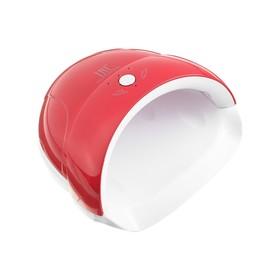 Лампа для гель-лака TNL Quick, 5 UV/LED диодов, 24 Вт, таймер 30/60/90 сек, красная