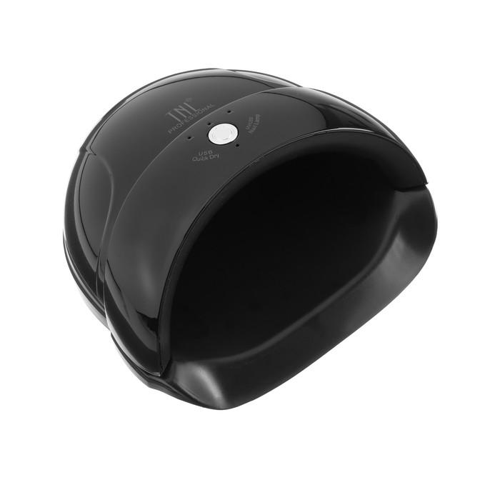Лампа для гель-лака TNL Quick, UV/LED, 24 Вт, 5 диодов, таймер 30/60/90 сек, чёрная