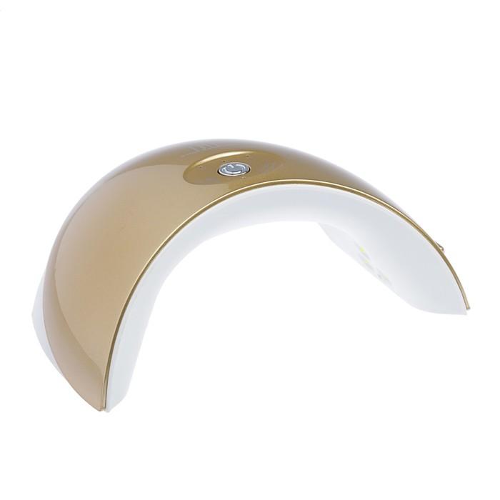 Лампа для гель-лака TNL Mood, UV/LED, 36 Вт, 12 диодов, таймер 30/60/90 сек, цвет золото