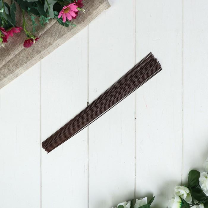 Проволока для изготовления искусственных цветов Коричневая 30 см сечение 1,2 мм