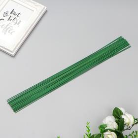 Проволока для изготовления искусственных цветов 'Зелёная' 40 см сечение 1,2 мм Ош