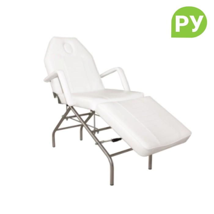Кресло косметологическое КК-8089, пятилучье, цбелый