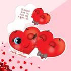 Открытка?валентинка «От обьятий твоих таю, в них тону и пропадаю», сердечко, 10.3 x 5.9 см