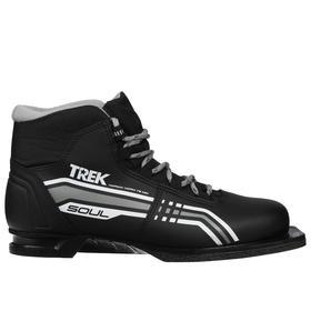 Ботинки лыжные TREK Soul NN75 ИК, цвет чёрный, лого серый, размер 42