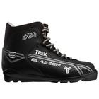 Ботинки лыжные TREK Blazzer SNS ИК, цвет чёрный, лого серый, размер 39