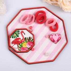 Подставка для аксессуаров 'Розовые полосы' Ош