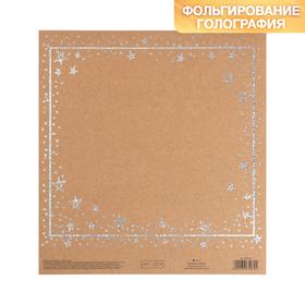 Бумага для скрапбукинга крафтовая с голографическим фольгированием «Чудеса вокруг», 20 × 21.5 см