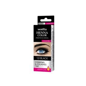 Краска для бровей и ресниц Venita Henna Color Gel черная