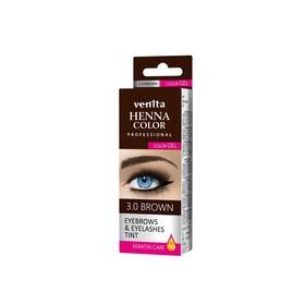 Краска для бровей и ресниц Venita Henna Color Gel, коричневая