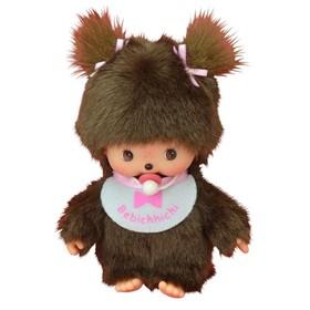 Игрушка «Бэбичичи Девочка» в розовом слюнявчике, 15 см
