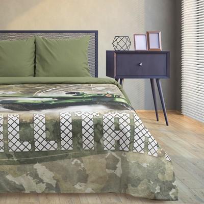 Постельное бельё Этель Military, 2-сп., 175 × 215 см, 200 × 220 см, 70 × 70 см (2 шт.) - Фото 1