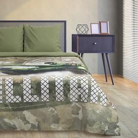 Постельное бельё Этель Military, 1.5-сп., 143 × 215 см, 150 × 214 см, 70 × 70 см (2 шт.)