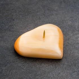 Подсвечник «Сердце», 2×6 см, селенит