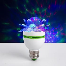 Лампа 'Хрустальный Цветок', d=7.5 см, 220 В, цоколь Е27 Ош