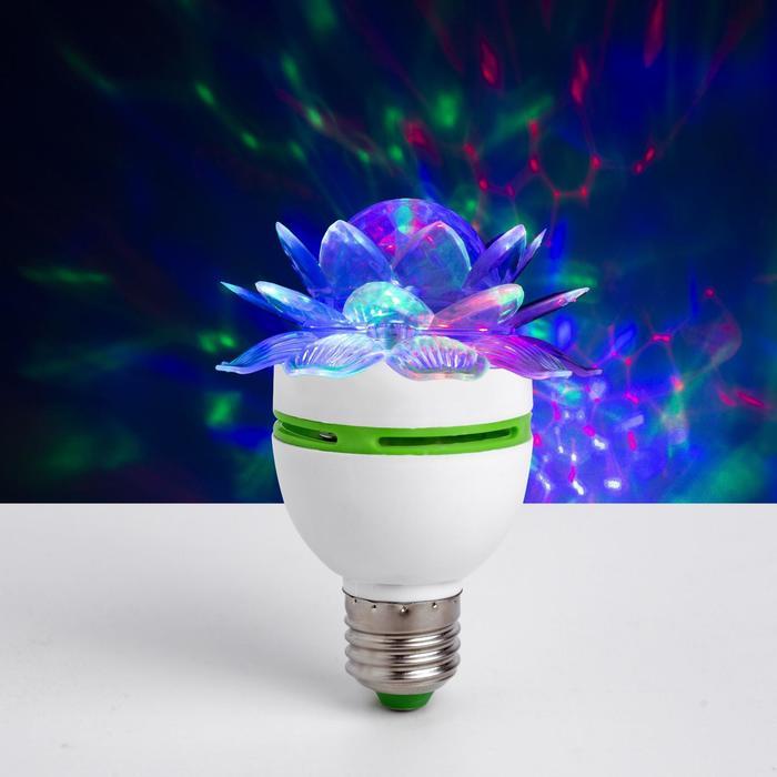 Лампа Хрустальный Цветок, d7.5 см, 220V, цоколь Е27