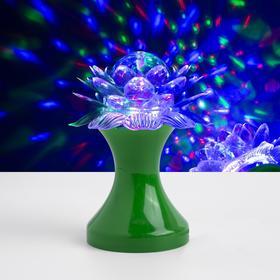 Световой прибор хрустальный шар 'Цветок' d=12.5 см, 220V, ЗЕЛЁНЫЙ Ош