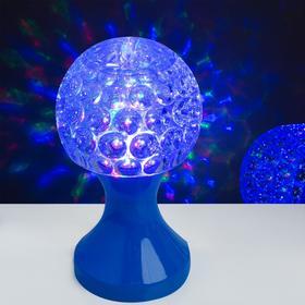Световой прибор хрустальный шар 'Кубок', диаметр 10 см, 220 В, СИНИЙ Ош