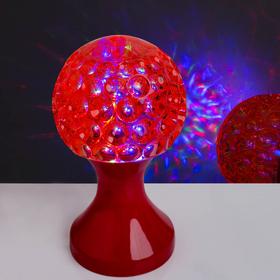 Световой прибор хрустальный шар 'Кубок', диаметр 10 см, 220 В, КРАСНЫЙ Ош