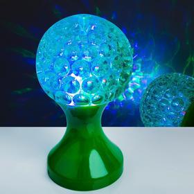 Световой прибор хрустальный шар 'Кубок', диаметр 10 см, 220 В, ЗЕЛЕНЫЙ Ош