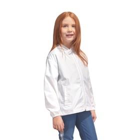 Ветровка детская, рост 140 см, цвет белый Ош