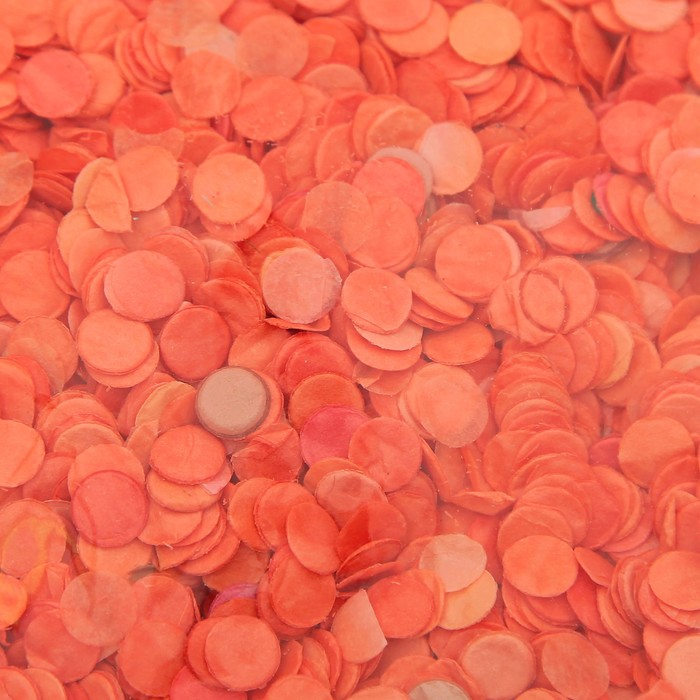 Конфетти, 7 мм, 20 г, цвет оранжевый