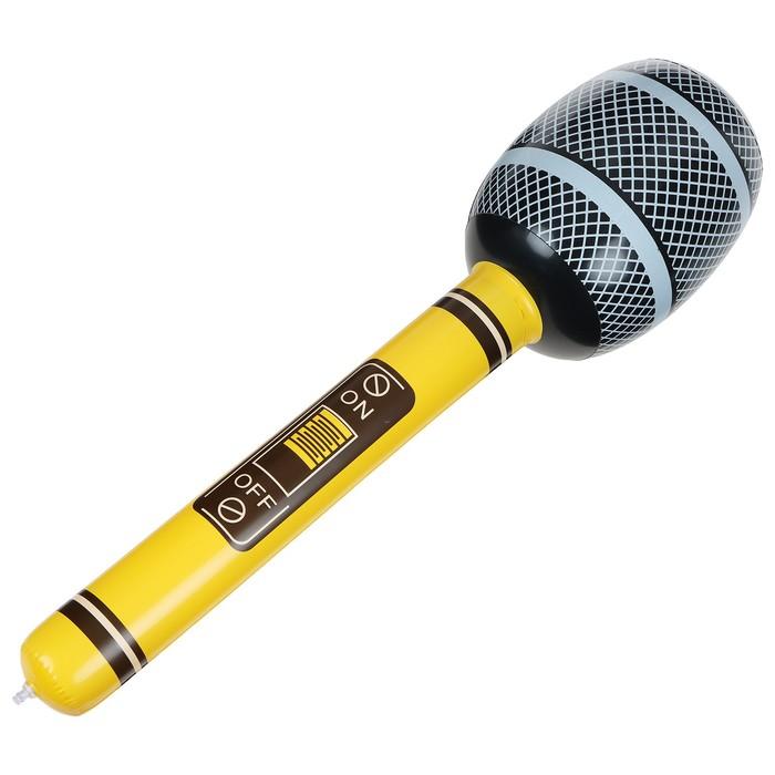 Игрушка надувная Микрофон 65 см, звук, цвета МИКС