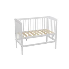 Кроватка приставная Polini kids Simple 100, 50 х 90 см, цвет белый