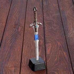 Меч в камне 'Экскалибур', рукоять с голубыми кристаллами, 8,5х3,5х27 см Ош
