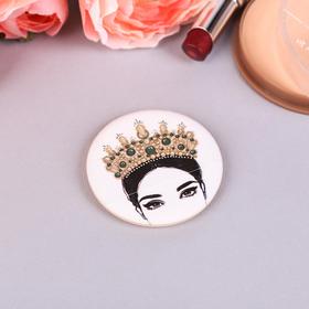 """Спонж для макияжа """"Корона"""", с держателем, d=5,3*0,5см"""