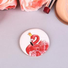 """Спонж для макияжа """"Фламинго"""", с держателем, d=5,3*0,5см"""