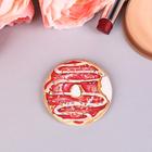 """Спонж для макияжа """"Пончик"""", с держателем, d=5,3*0,5см"""