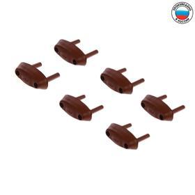 Заглушка для электрических розеток (комплект 6 шт), цвет коричневый Ош