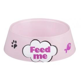 "Миска ""Феликс"" для кошек, 0,3 л, 14,5 x 14,5 x 4 см, розовый"