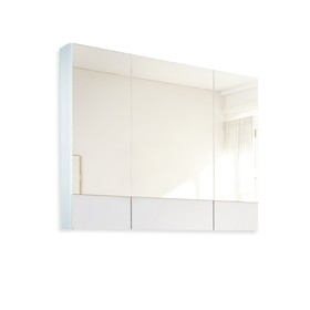 Зеркало Соната 90  3д. Белый глянец