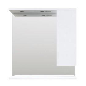 Зеркало Кода 80 Лайт Белый глянец, МДФ