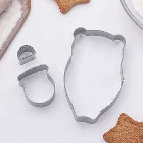 Набор форм для вырезания печенья 'Мишка', 2 шт Ош