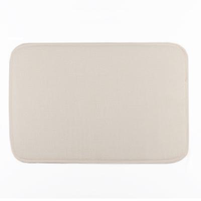 Коврик «Лён», 40×60 см, цвет бежевый